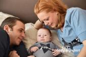 Papa, mama en de baby
