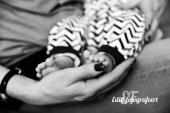 Babyvoetjes zwartwit