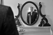 Bruidegom in spiegel