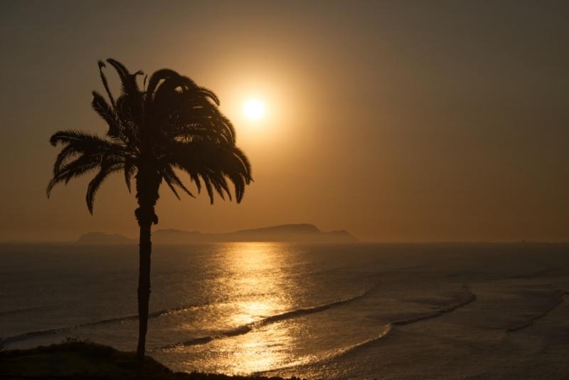 De zonsondergang