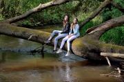 Fotoshoot in het bos