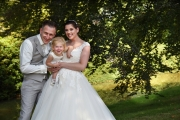 Familie foto bruidsdag