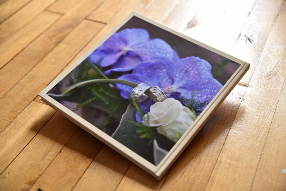 Fotocover bruidsalbum voor een trouwreportage gemaakt in Weert en Roermond.