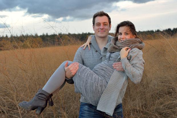Zwangerschap fotoshoot in de natuur in Limburg