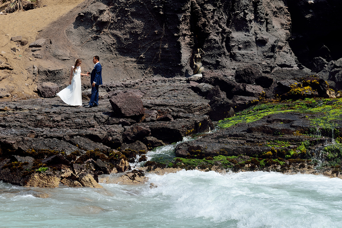 Stoere locatie voor trouwfoto's in het buitenland.