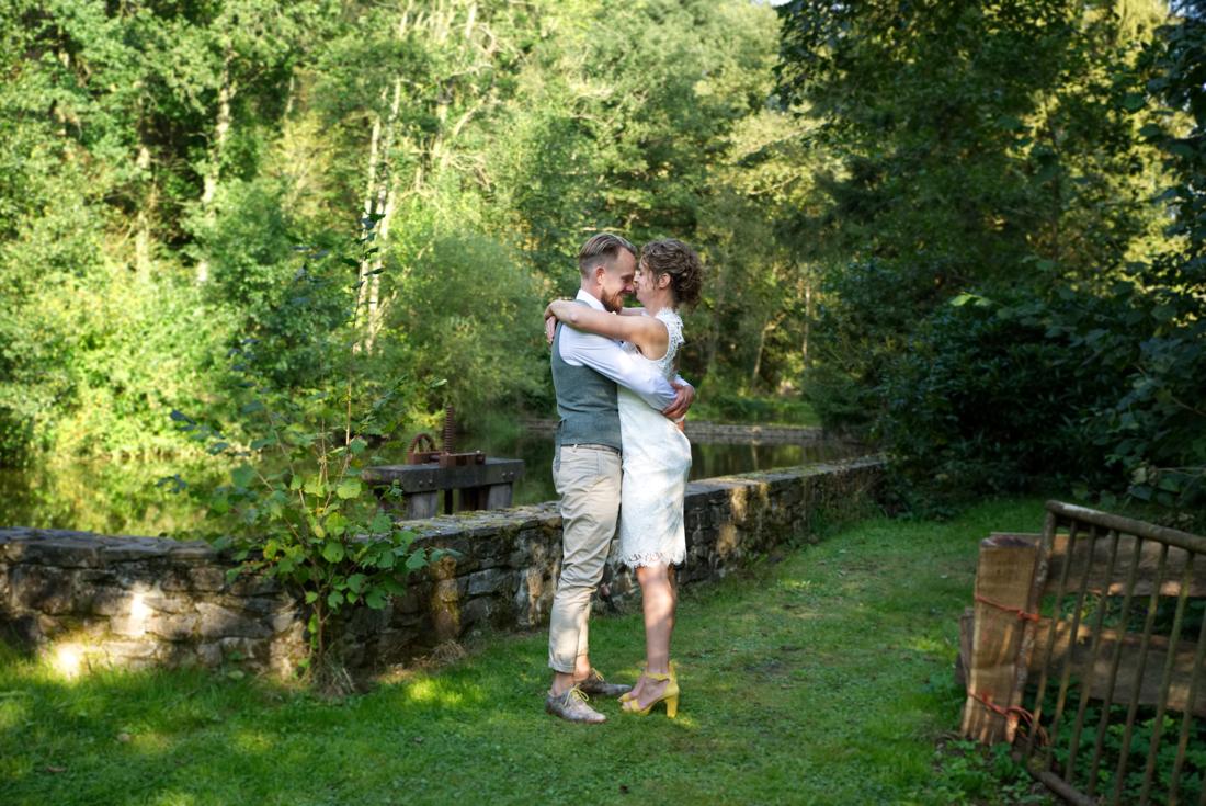 Bruidspaar in de Ardennen