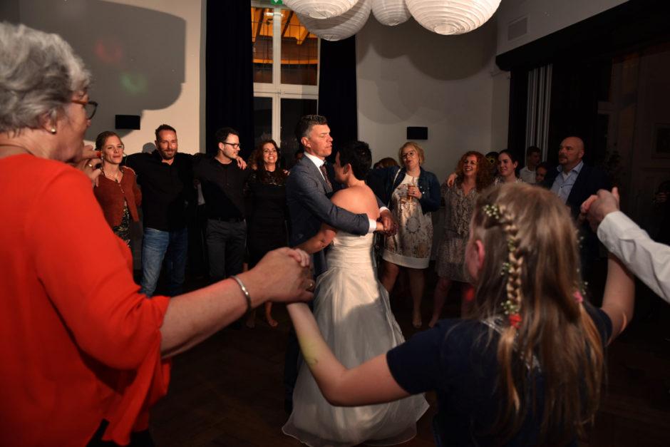 Bruiloftsfeest op de Veluwe bij landgoed Rhederoord.